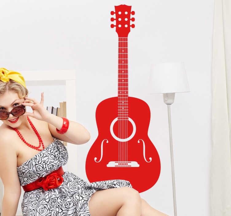 Adesivo murale  chitarra acustica