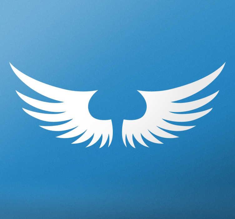 TenStickers. Sticker ailes ange. Sticker original représentant d'élégantes ailes d'ange, idéal pour personnaliser votre intérieur.