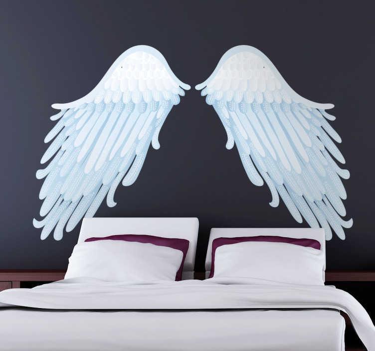 Adesivo de parede asas de anjo