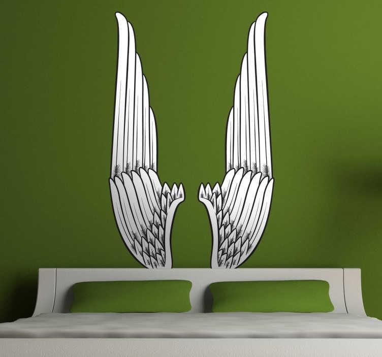 Naklejka dekoracyjna odwrócone skrzydła