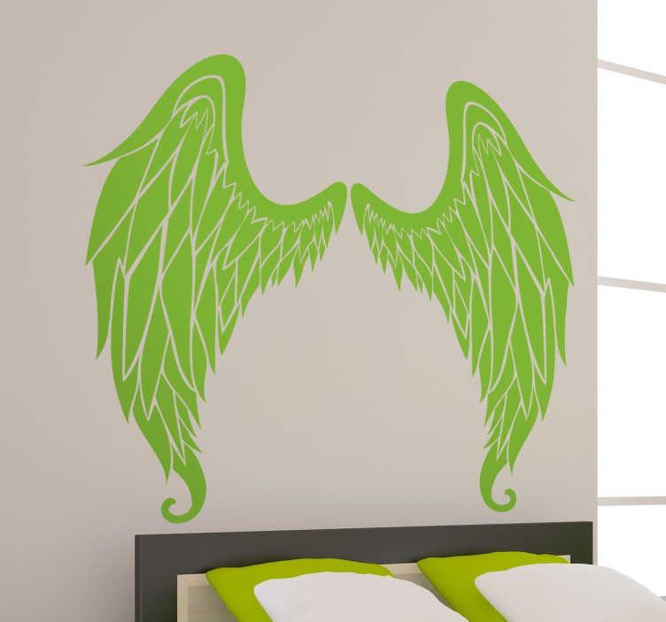 TenVinilo. Vinilos decorativo alas ángel negativo. Vinilos de dos alas de ángel simétricas perfectas para cualquier pared de tu hogar.