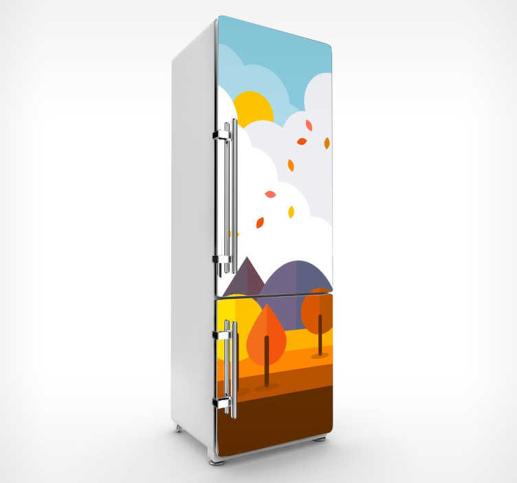 sticker per frigo bosco tenstickers. Black Bedroom Furniture Sets. Home Design Ideas