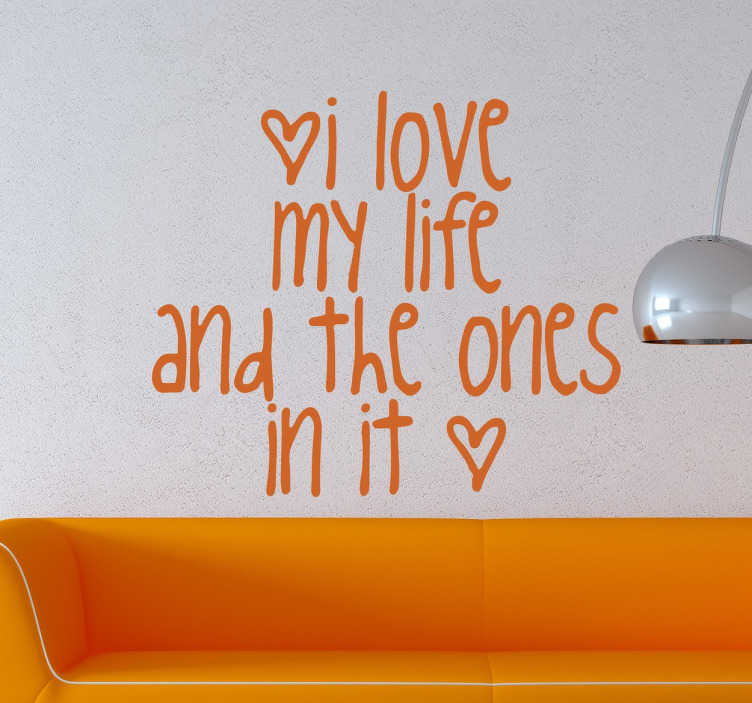 Naklejka kocham swoje życie