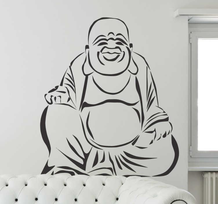 TenStickers. Dikke Boeddha Boeddhisme sticker. Een sticker van een dikke Boeddha van het Boeddhisme! Beplak deze sticker in jouw woning en laat zien dat je eene chte gelovige bent!