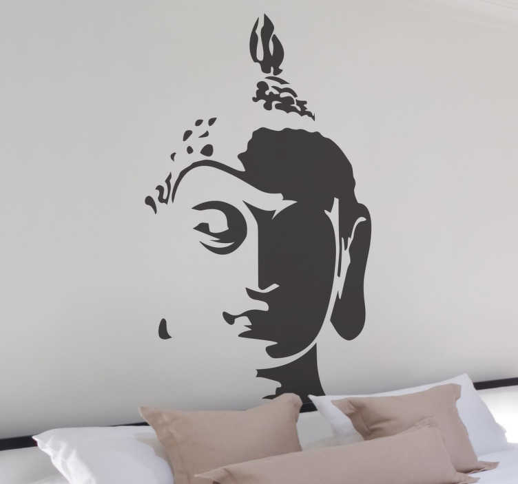 sticker bouddha t te tenstickers. Black Bedroom Furniture Sets. Home Design Ideas