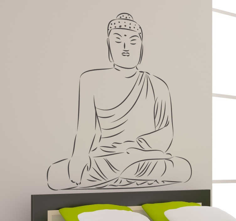 Sticker Bouddha dessin