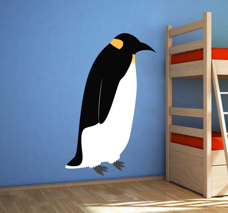 TenStickers. Sticker pingouin manchot. Sticker original pour décorer votre intérieur, représentant un majestueux manchot, les rois de la banquise.