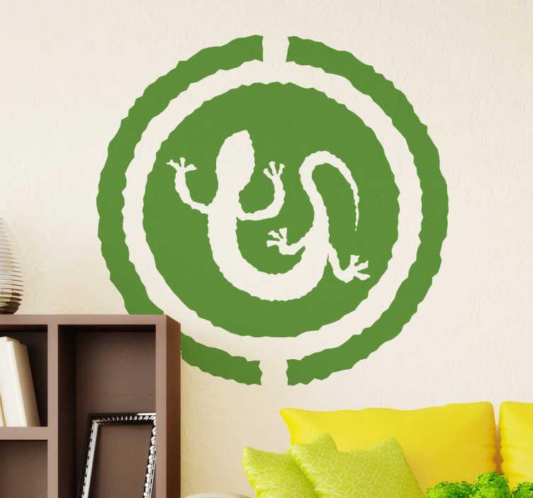 TenStickers. Autocolante decorativo lagarto. Autocolante decorativo com a imagem de um lagarto. Ideal para a decoração da sala ou para o portátil.