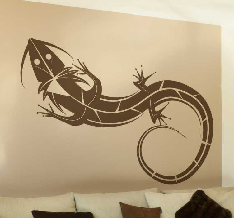 TenStickers. Decoratie Salamander Muursticker. A fantastic lizard from our collection of gecko wall art stickers inspired on tribal tattoos! An ideal decal to decorate your home!