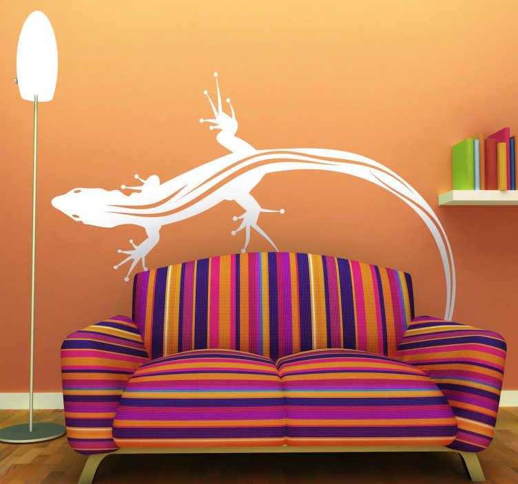 TenStickers. Barevný salamandr ještěrka nálepka zvíře samolepka. Originální nálepka malého ještěrka, ideální k ozdobení zdí domu nebo bytu. Rychlá dodávka. +50 couleurs.