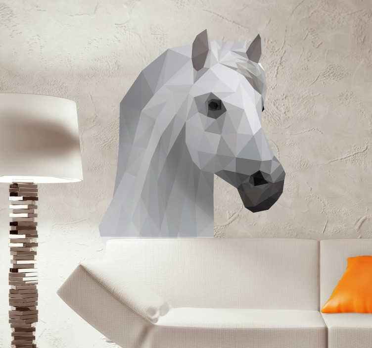 Tenstickers. Ridning huvud klistermärke djur vägg klistermärke. Dekorera väggarna i ditt hem med denna vackra klistermärke som representerar en hästs huvud, perfekt för djurälskare. Snabb leverans.