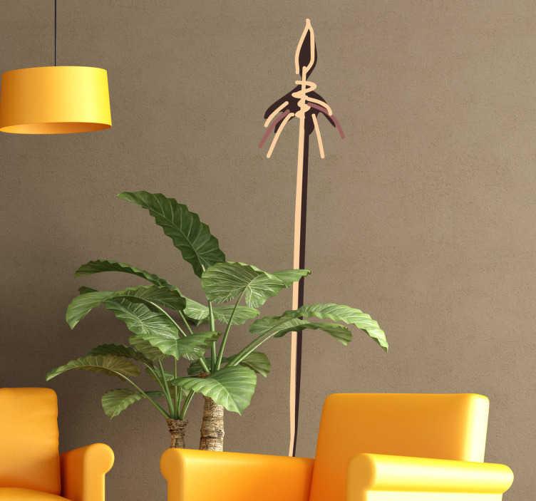 TenStickers. Muursticker Afrikaanse Decoratie. Deze muursticker komt van origine uit Afrika. Het omtrent een lans getekend op Afrikaanse stijl.