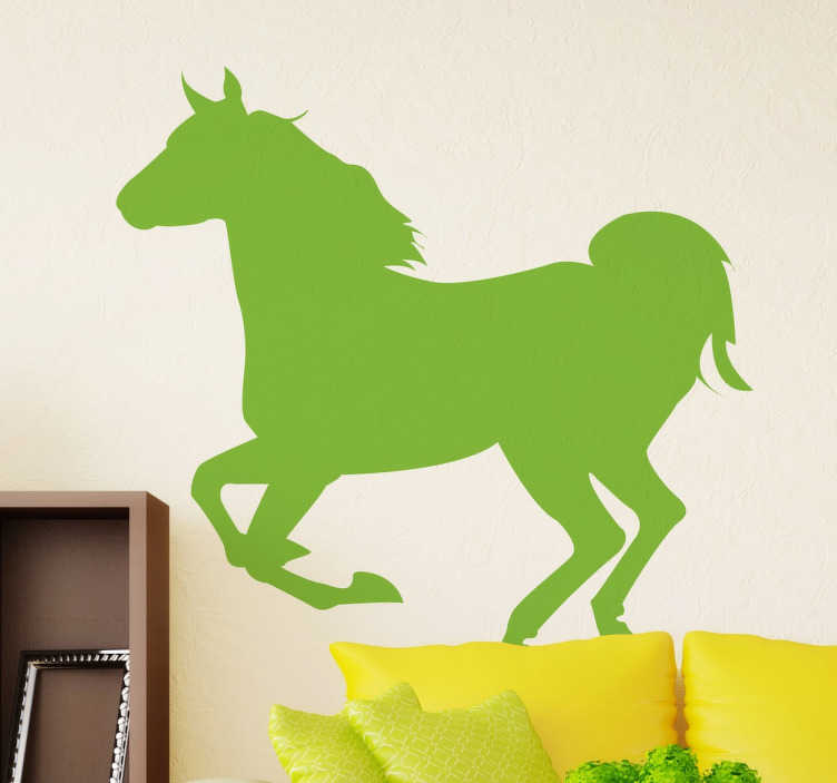 TenStickers. Silhouette Horse Wall Sticker. A fantastic horse wall art decal for those that love horses and horse riding. This horse silhouette sticker is original and creative!
