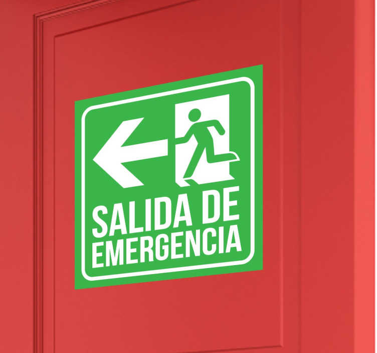 Adhesivo señalética salida emergencia
