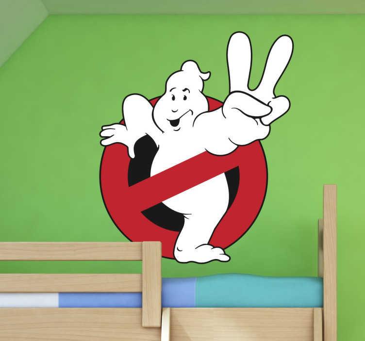 TenVinilo. Vinilo decorativo Cazafantasmas han vuelto. Pegatina con el logotipo de la segunda parte de la película de Ghostbusters.