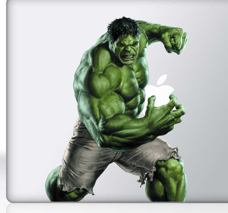 Vinilo decorativo Hulk La Masa Macbook