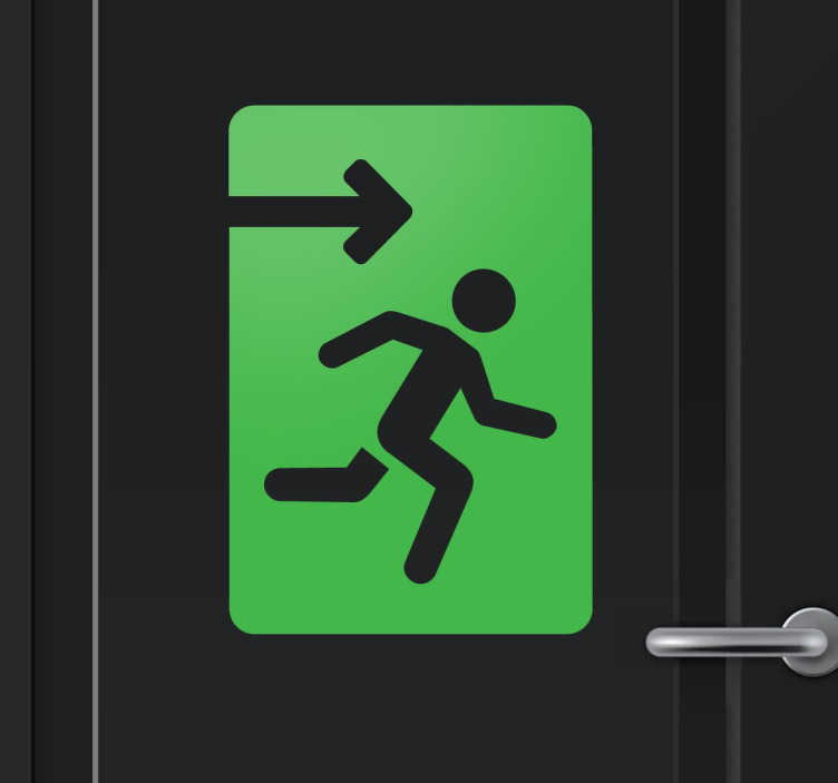TenStickers. Exit Icon Sticker. Sign-age sticker to clearly indicate where the emergency exit is located.
