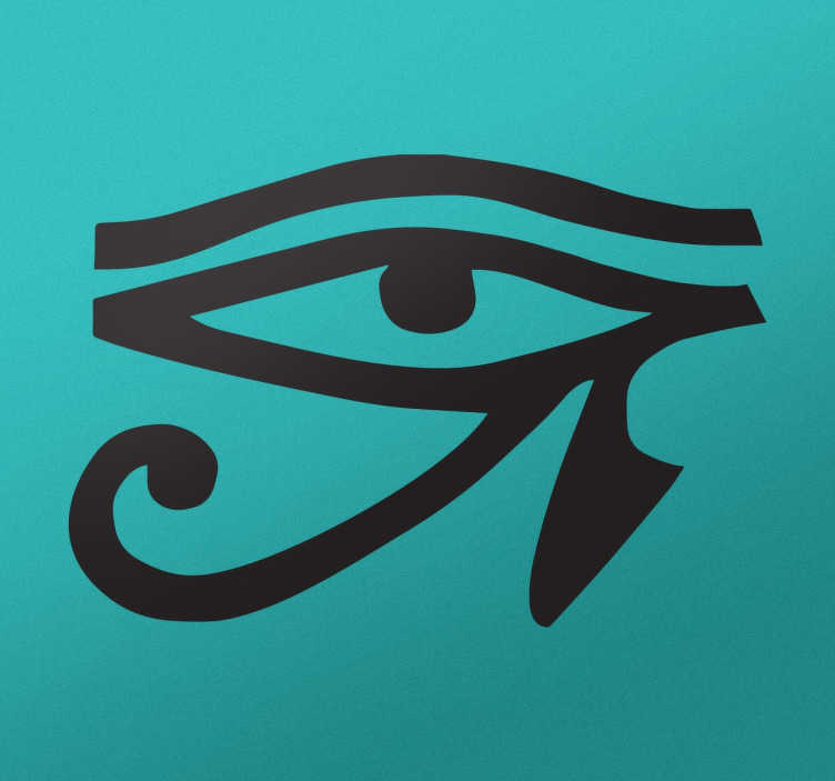 TenStickers. Vinil decorativo olho de Hórus. Vinil decorativo para apaixonados da cultura do Egipto. Adesivo de parede com a representação iconográfica do olho do antigo Deus, Hórus.