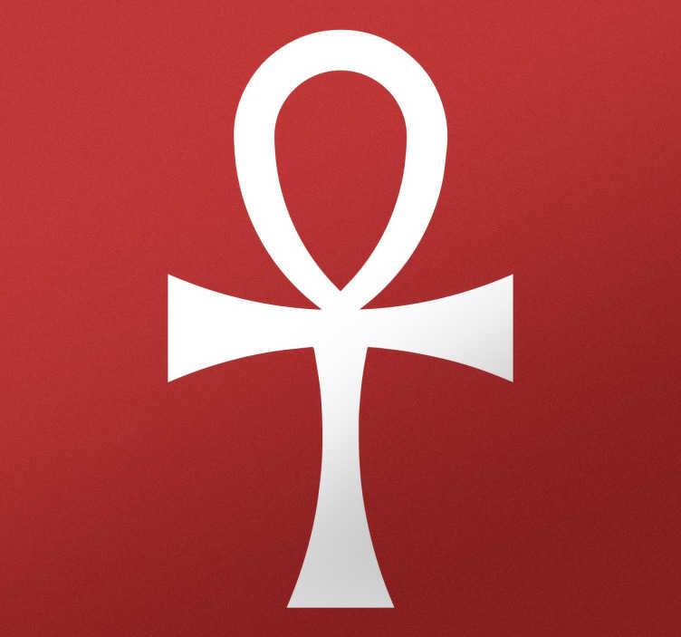 TENSTICKERS. シンボルegypt crossanséeホームウォールステッカー. 古代エジプトの神々の古代シンボル、anséecrossを表すオリジナルのステッカーでインテリアを飾りましょう。