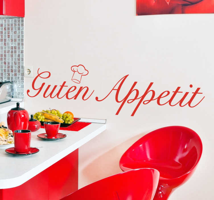 TenStickers. Guten appetit Wandtattoo. Text Sticker - Dekorationsidee für die Küche. Machen Sie Ihre zu einem angenehmeren Ort und wünschen allen einen Guten Appetit.