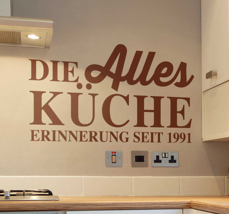TenStickers. Persönlicher Küchen Sticker. Personalisierter Küchen Sticker. Gestalten Sie Ihre Küche individuell mit einem kurzen Text und Ihrem Familien Namen.