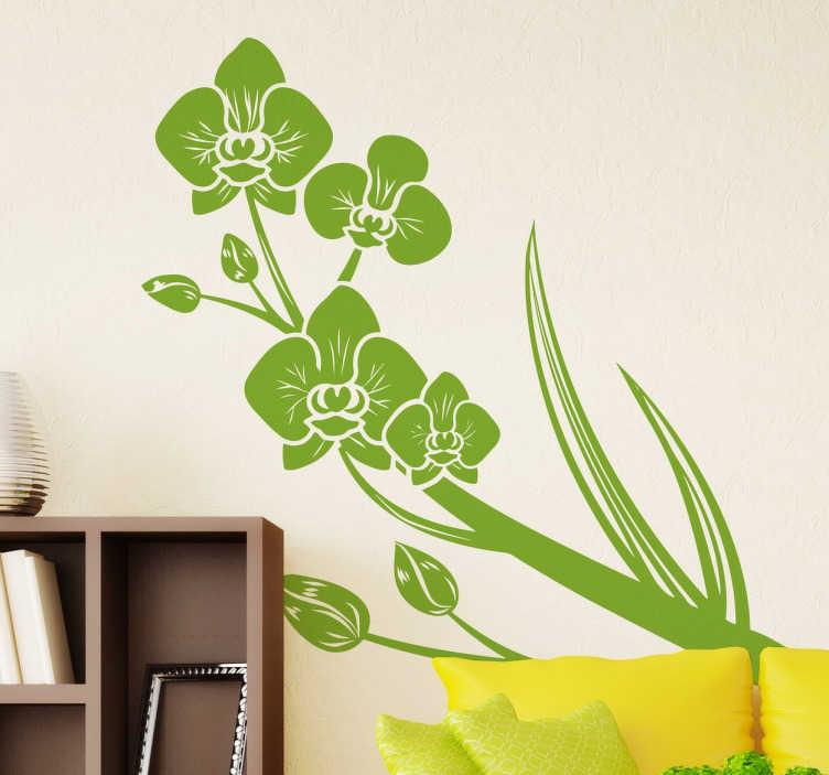 Adesivo decorativo orchidee