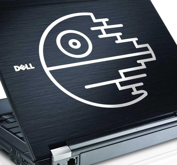 TenStickers. Sticker ordinateur etoile noire. Sticker exclusif pour personnaliser votre ordinateur portable, avec le symbole de Dark Vador, l'Etoile noire.