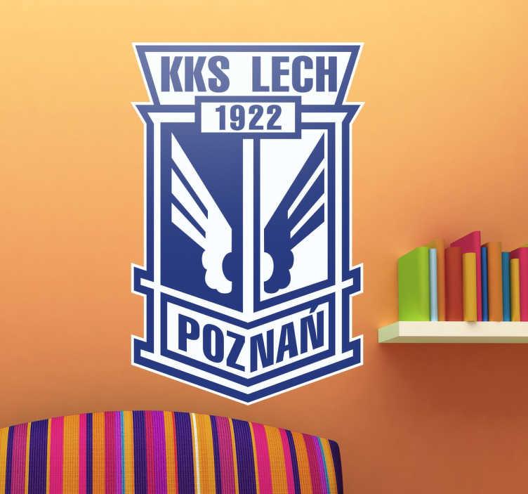 TenStickers. Naklejka Lech Poznań. Naklejka dekoracyjna z herbem poznańskiej drużyny piłkarskiej Lech Poznań. Dla wszystkich sympatyków klubu sportowego!