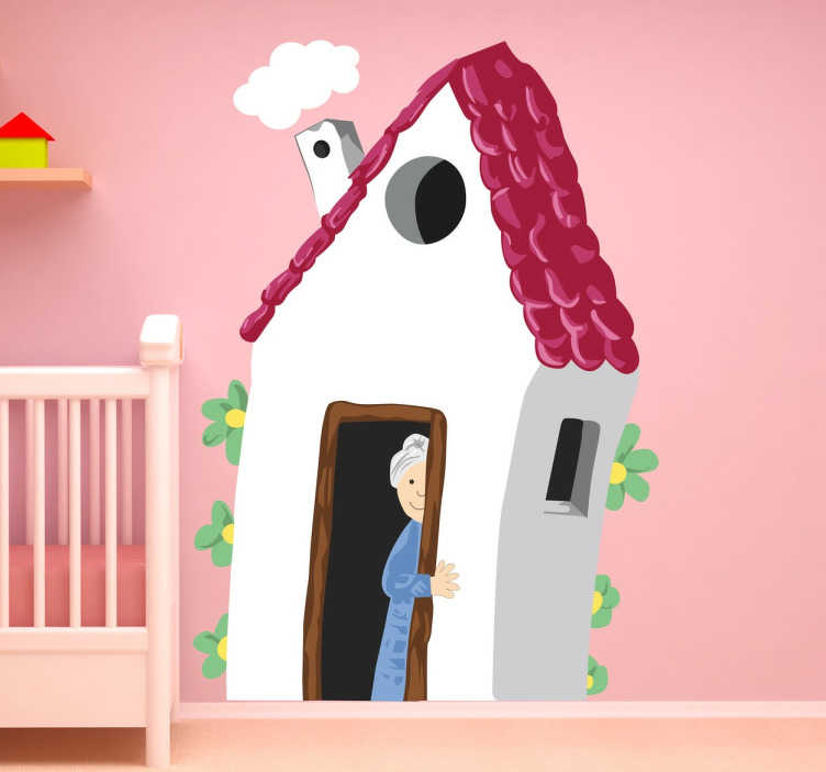 TenStickers. Grandma's House Wall Sticker. A creative decal illustrating grandma's house! A colourful wall sticker to decorate your child's bedroom or playroom.