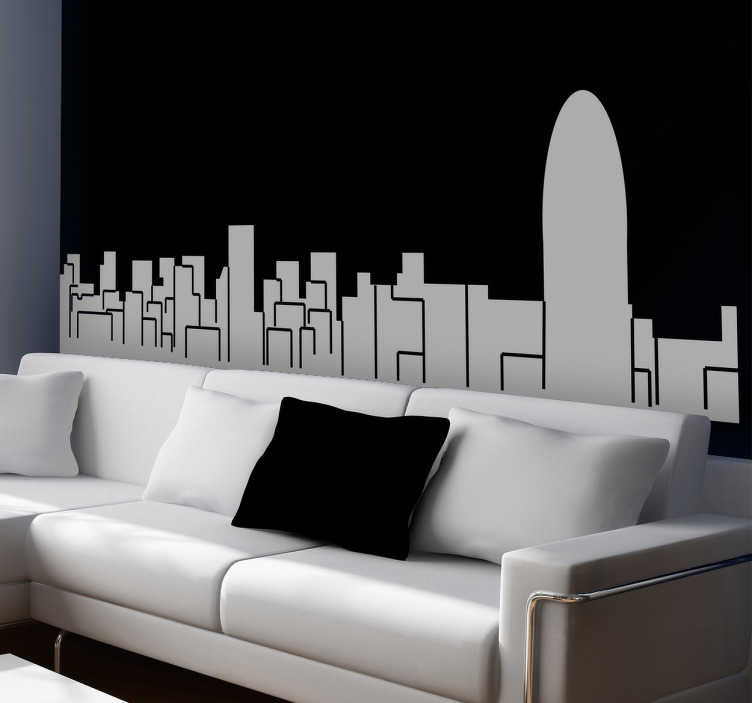 Adesivo decorativo silhouette Barcellona