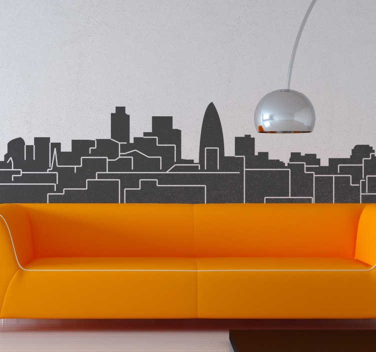 TenStickers. London Skyline Sticker. A splendid design illustrating England's capital! Decorate your home with a fantastic skyline sticker of London!