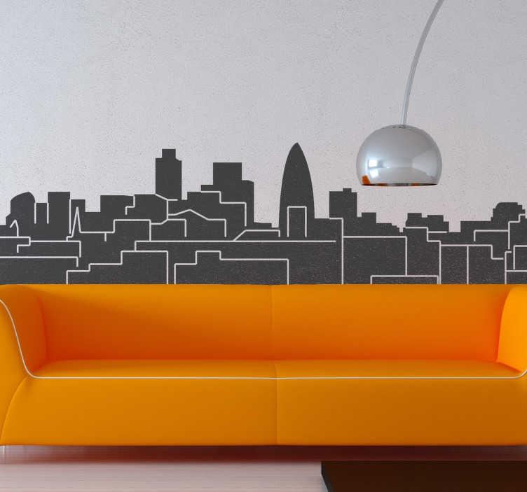 London Skyline Wandtattoo