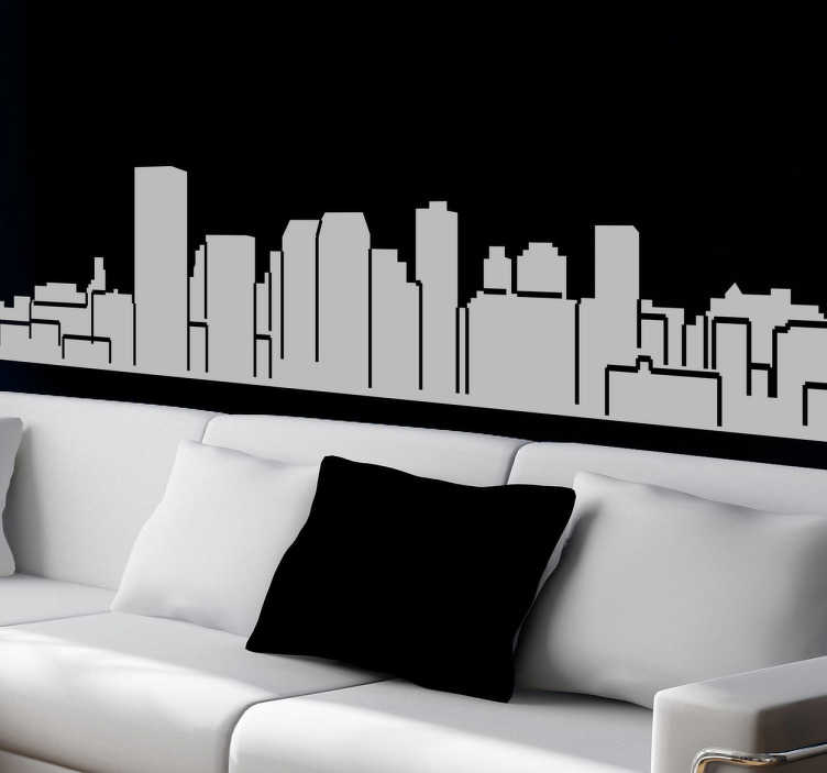 TenStickers. Manchester Skyline Sticker. A design illustrating Manchester's skyline. You can decorate your home with this skyline sticker and enjoy the fantastic building in Manchester.