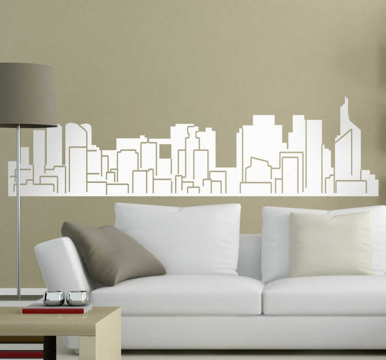 TenStickers. Paris Profile Sticker. Paris wall decal with a representation of the architectural profile of the French capital.