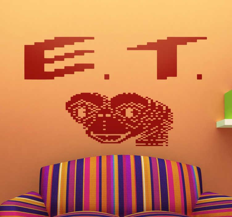 TenVinilo. Vinilo decorativo portada ET Atari. Vinilos para auténticos frikis de los videojuegos clásicos de los 80 del arcade de Atari.