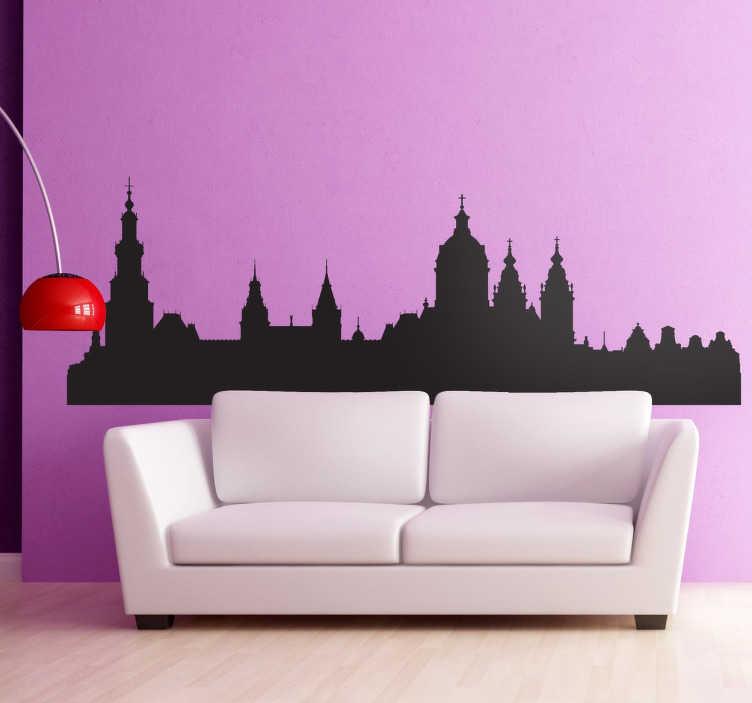 Vinilo decorativo silueta perfil Amsterdam