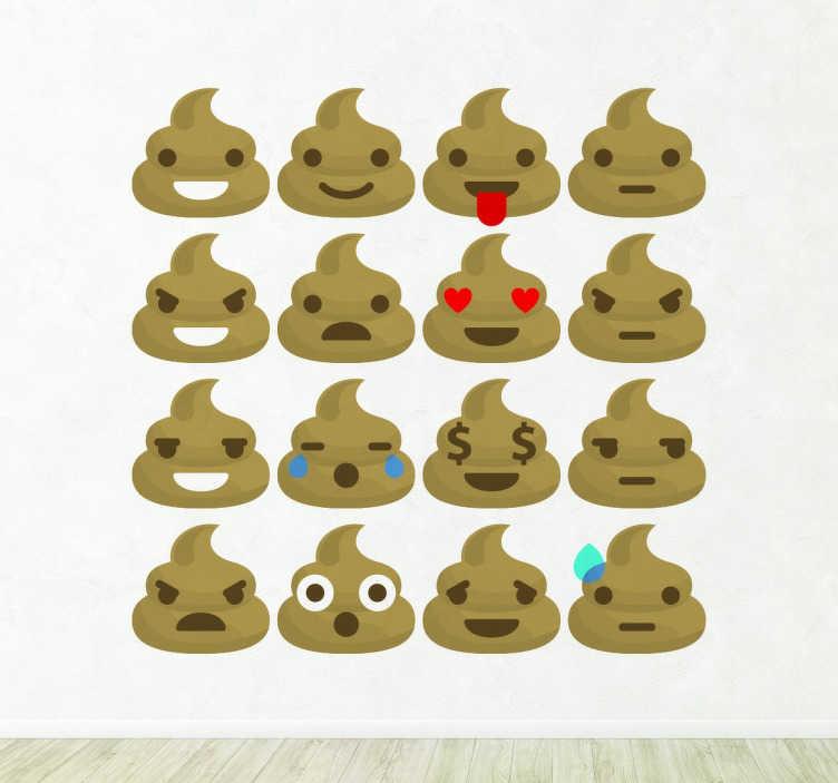 Sticker emojis excrements