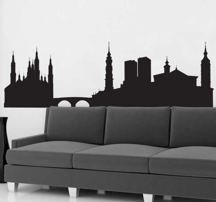 Vinilo decorativo silueta perfil Zaragoza