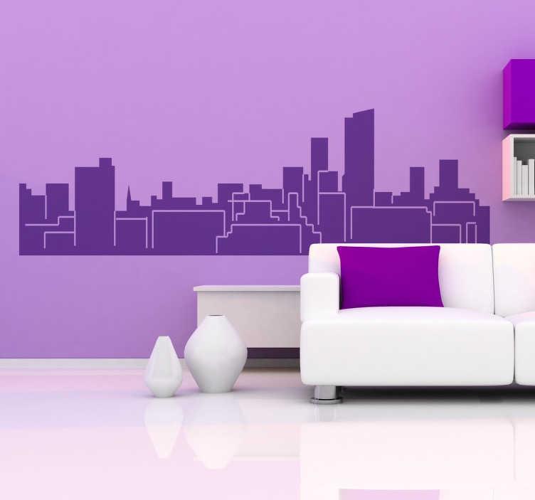 TenStickers. Autocolante decorativo skyline Leeds. Autocolante decorativo com a skyline de Leeds. Aconselhamos que coloques este vinil personalizado na decoração da sala ou na decoração do quarto.
