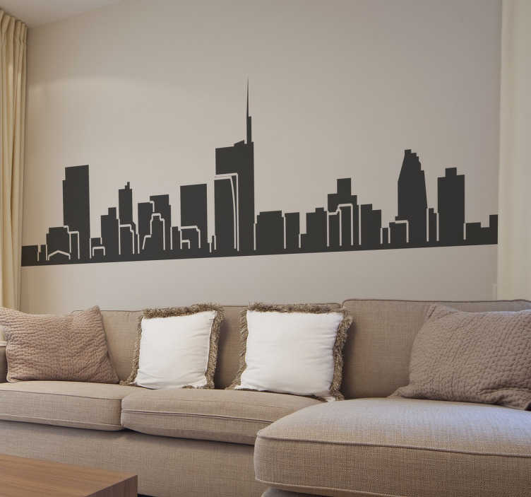 Vinilo decorativo skyline Milán