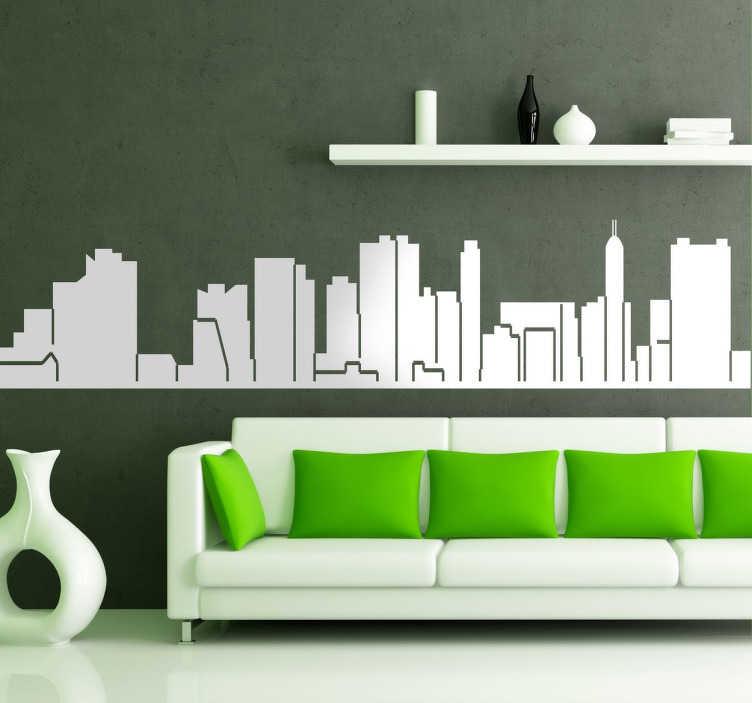 TenStickers. Naklejka dekoracyjna panorama Neapolu. Naklejki na ścianę przedstawiające panoramy miast, w tym wypadku panorama Neapolu - naklejka. Dla miłośników Włoch.