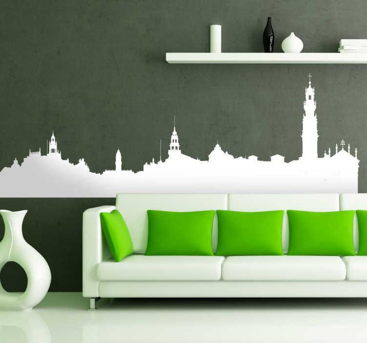 Sticker décoratif skyline Porto