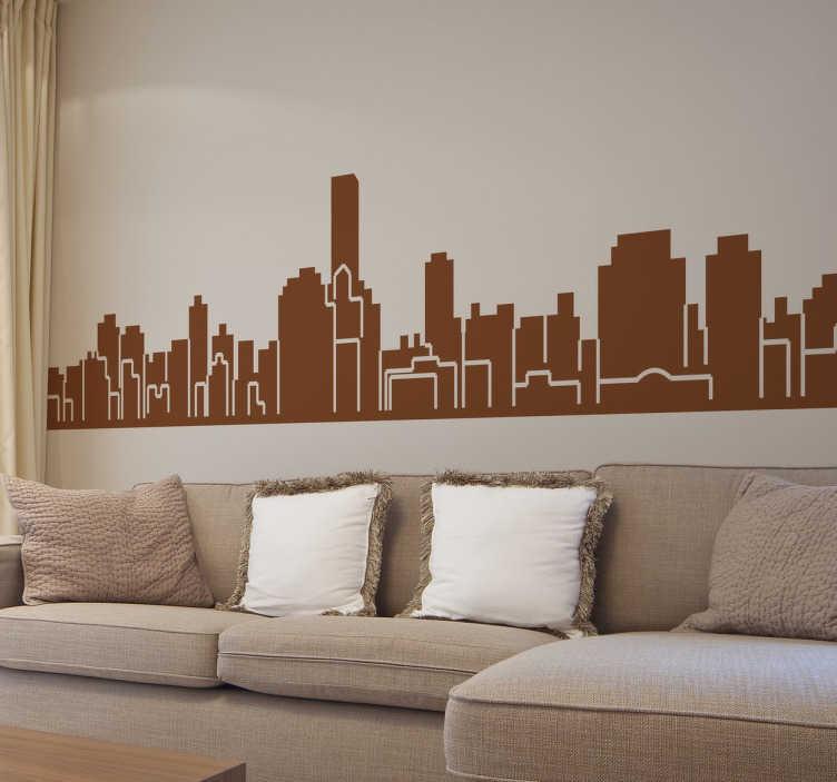 TenStickers. Naklejka dekoracyjna panorama Palermo. Naklejki na ścianę z panoramą miasta Palermo. Naklejki na ścianę dla miłośników Włoch i Sycylii.
