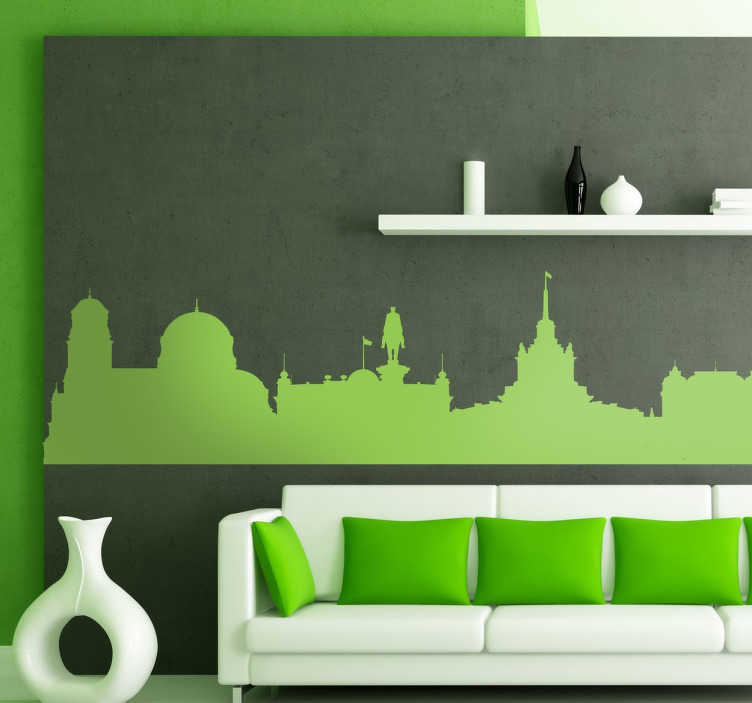 TenStickers. Sofia Bulgaria Skyline Sticker. A magnificent decal illustrating an amazing view of Bulgaria. This superb skyline sticker is suitable to decorate all spaces at home or work.