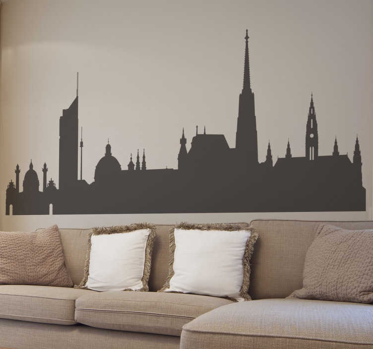 Vinilo decorativo skyline Viena