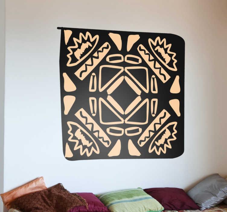 Naklejka dekoracyjna afrykańska mozaika