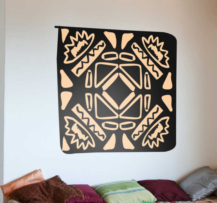 Afrikanisches mosaik aufkleber tenstickers for Mosaik aufkleber