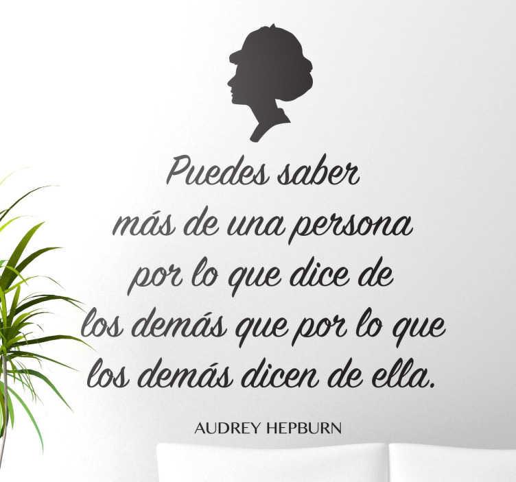Vinilos de citas célebres Audrey Hepburn