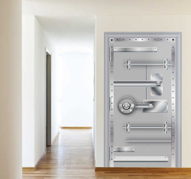 Metal Vault Door Sticker