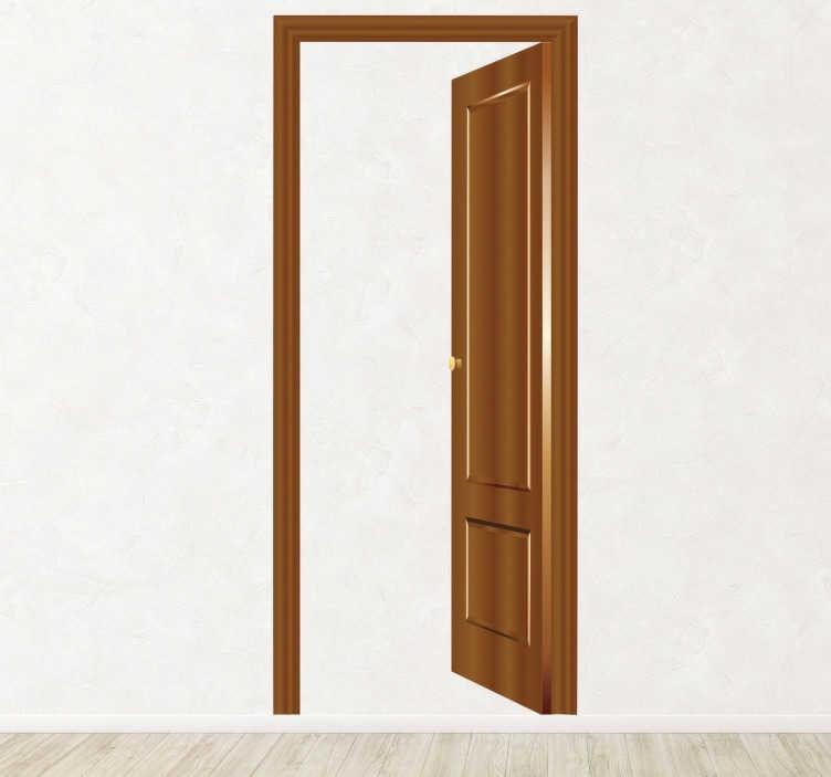 TenStickers. 3D Wandtattoo Falsche Tür. Wandtattoo Tür - Simulieren Sie eine Tür mit diesem spektakulärem Aufkleber in Ihrem Wohnzimmer.